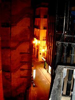 バレンシアの宿の窓からの眺め